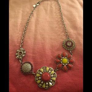Lia Sophia fun flower Statement necklace